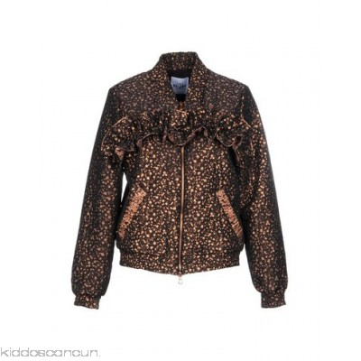 SI-JAY Bomber - crepe lamé ruched two-tone single-breasted zip - Womens Bombers 41780920AP