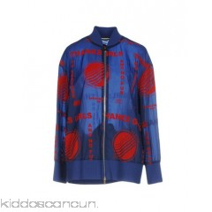 STELLA McCARTNEY Bomber - velvet techno fabric no appliqués solid colour single-breasted  zip - Womens Bombers 41776937PF