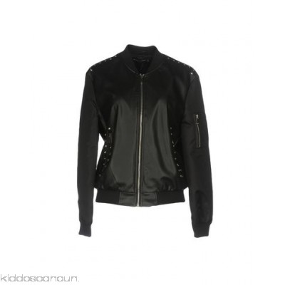 STREET LEATHERS Bomber - techno fabric faux leather embroidered detailing ruffles solid colour single-breasted - Womens Bombers 41750808QF
