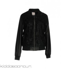 SWEET SECRETS Bomber - lace faux leather no appliqués solid colour single-breasted  zip - Womens Bombers 41767727LV