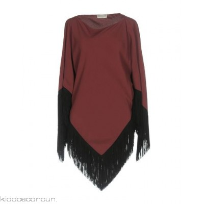 BALENCIAGA Cloak - crêpe fringe solid colour single-breasted round collar no pockets - Womens Cloaks 41753279OX