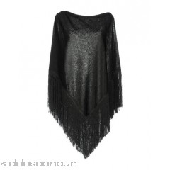 DENNY ROSE Cloak - knitted lamé logo fringe solid colour single-breasted  - Womens Cloaks 41766970CB