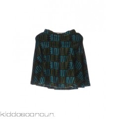 KENZO Cloak - knitted no appliqués multicolour pattern round collar single-breasted  no pockets - Womens Cloaks 41686937DG