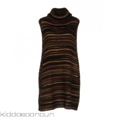 P.A.R.O.S.H. Cloak - knitted lamé rhinestones stripes turtleneck single-breasted  - Womens Cloaks 39737222GM