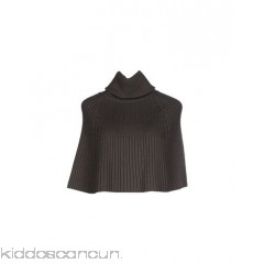PLEIN SUD Cloak - knitted ribbed no appliqués solid colour turtleneck single-breasted  - Womens Cloaks 41634760HH