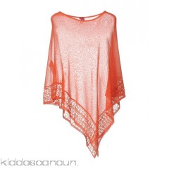SAVE THE QUEEN Cloak - lace knitted logo solid colour round collar single-breasted  - Womens Cloaks 39720124EJ