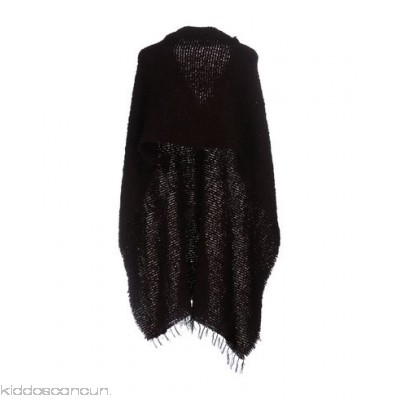 SEVENTY SERGIO TEGON Cloak - knitted bouclé fringe solid colour single-breasted round collar - Womens Cloaks 46532922LN