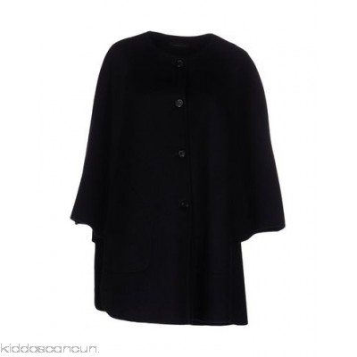 STRENESSE Cloak - flannel no appliqués basic solid colour round collar single-breasted button closing - Womens Cloaks 41655017XQ