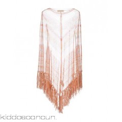 VALENTINO Cloak - knitted fringe multicolour pattern round collar single-breasted  no pockets - Womens Cloaks 38603200EI