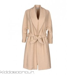ANGELA MELE MILANO Belted coats - knitted belt basic solid colour single-breasted  lapel collar multipockets - Womens Belted Coats 41759485WC