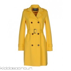 eWOOLuzione Belted coats - neoprene belt flashes basic solid colour double-breasted button closing - Womens Belted Coats 41762493KG