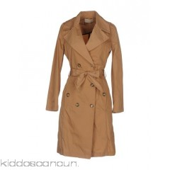KAOS JEANS Belted coats - twill belt flashes solid colour double-breasted button closing - Womens Belted Coats 41754945DJ