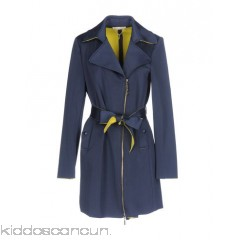 LES PLUMES de LIU •JO Belted coats - neoprene logo belt solid colour single-breasted  zip - Womens Belted Coats 41752341GF