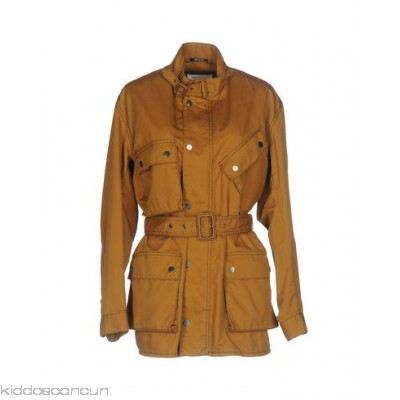 MAISON MARGIELA Belted coats - plain weave buckle belt solid colour single-breasted snap-buttons - Womens Belted Coats 41753704UO