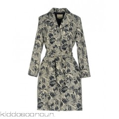 NIŪ Belted coats - jacquard plain weave belt floral design single-breasted  snap button closure - Womens Belted Coats 41770806GW