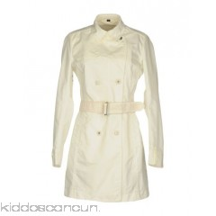 PIQUADRO Belted coats - techno fabric belt solid colour double-breasted button closing lapel collar - Womens Belted Coats 41751242SU