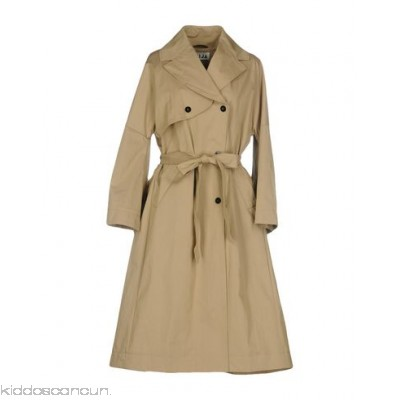 TEIJA Belted coats - gabardine belt solid colour double-breasted button closing lapel collar - Womens Belted Coats 41776482TP