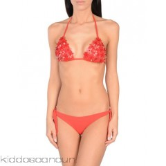 NADIA GUIDI Bikini - synthetic jersey flower application solid colour removable padding self-tie closure fully lined 2-piece set stretch - Womens Bikinis 47211089OD