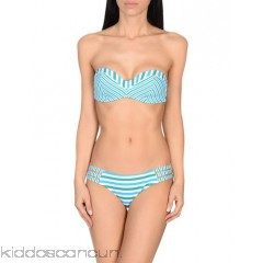PAOLITA Bikini - synthetic jersey no appliqués stripes self-tie wrap closure rear closure fully lined stretch - Womens Bikinis 47219102HK