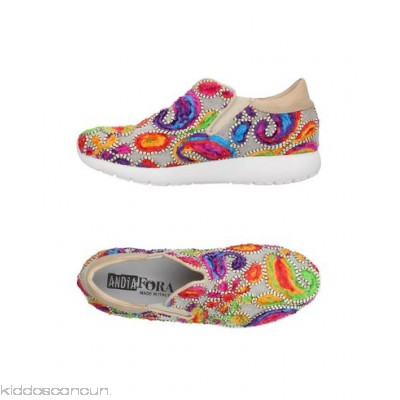 ANDÌA FORA Sneakers - tulle embroidered detailing multicolour pattern round toeline flat leather lining - Womens Sneakers 11376821FC