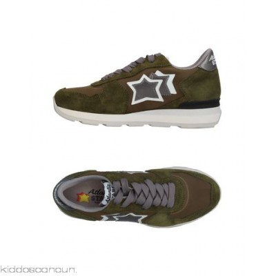 ATLANTIC STARS Sneakers - neoprene leather faux suede contrasting applications logo multicolour pattern - Womens Sneakers 11369250PU