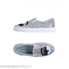 CHIARA FERRAGNI Sneakers - beaded detailing glitter solid colour elasticised gores round toeline flat - Womens Sneakers 11337171FG