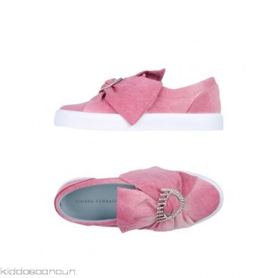 CHIARA FERRAGNI Sneakers - canvas rhinestones bow detailing solid colour round toeline flat - Womens Sneakers 11339408JV