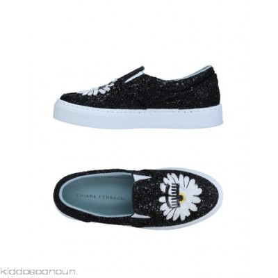 CHIARA FERRAGNI Sneakers - embroidered detailing glitter solid colour round toeline flat fully lined - Womens Sneakers 11357920VA