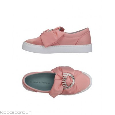 CHIARA FERRAGNI Sneakers - satin logo bow detailing solid colour elasticised gores round toeline - Womens Sneakers 11331147ED