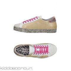 D.A.T.E. Sneakers - rhinestones logo solid colour laces round toeline flat - Womens Sneakers 11378076IB
