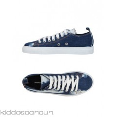 DSQUARED2 Sneakers - denim faded logo solid colour laces round toeline - Womens Sneakers 11421847GE