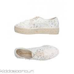 ESPADRILLES Sneakers - tulle logo solid colour laces round toeline flatform - Womens Sneakers 11376186DX