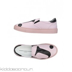 JOHN GALLIANO Sneakers - logo solid colour round toeline flat leather lining rubber sole - Womens Sneakers 11426471TV