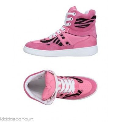 KATIE GRAND LOVES HOGAN Sneakers - sueded effect logo zebra stripes round toeline leather lining rubber cleated sole - Womens Sneakers 11270549CA