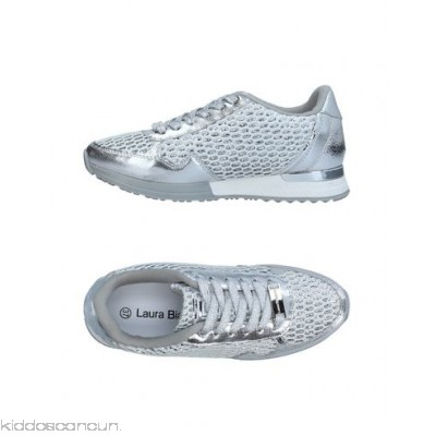 LAURA BIAGIOTTI Sneakers - techno fabric faux leather laminated effect logo glitter lamé - Womens Sneakers 11373752JH