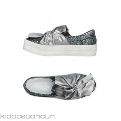 MANUELA DARDOZZI Sneakers - laminated effect bow detailing glitter solid colour elasticised gores round toeline - Womens Sneakers 11423449EQ