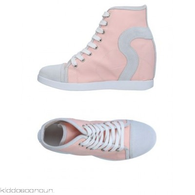 RUCO LINE Sneakers - coated effect logo solid colour laces round toeline wedge heel - Womens Sneakers 11334921LJ