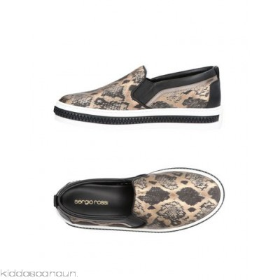 SERGIO ROSSI Sneakers - laminated effect animal print round toeline flat leather lining rubber cleated sole - Womens Sneakers 11412069FR