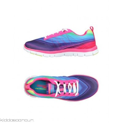 SKECHERS Sneakers - techno fabric logo multicolour pattern laces round toeline flat - Womens Sneakers 11427431XI