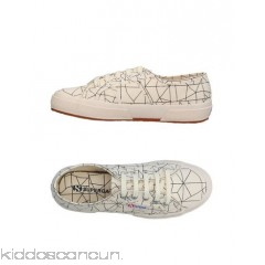 SUPERGA® Sneakers - plain weave logo two-tone laces round toeline flat - Womens Sneakers 11378392SS