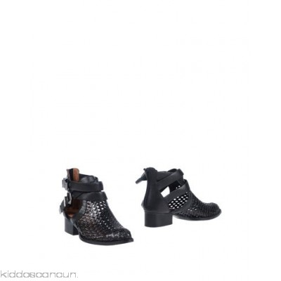 JEFFREY CAMPBELL Ankle boot - leather metal applications solid colour buckle narrow toeline square heel - Womens Chelsea Boots 11429306DF