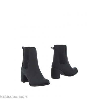 JEFFREY CAMPBELL Ankle boot - no appliqués solid colour elasticised gores round toeline geometric heel fabric inner - Womens Chelsea Boots 11322752BV