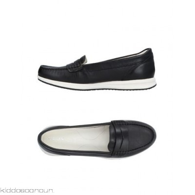 GEOX Loafers - leather no appliqués solid colour round toeline flat leather lining - Womens Loafers 11392289JQ