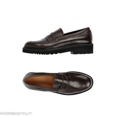 LEONARDO PRINCIPI Loafers - no appliqués basic solid colour round toeline square heel leather lining rubber sole - Womens Loafers 11340126RS