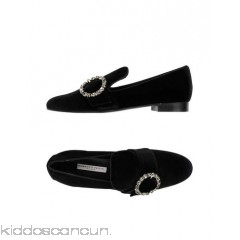 ROBERTO FESTA Loafers - velvet rhinestones solid colour round toeline flat leather lining - Womens Loafers 11336021JF