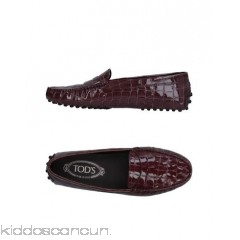 TOD'S Loafers - crocodile print varnished effect no appliqués solid colour round toeline flat - Womens Loafers 11325560JL
