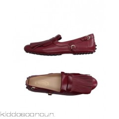TOD'S Loafers - fringe solid colour round toeline leather lining leather/rubber sole flat - Womens Loafers 11125320OV