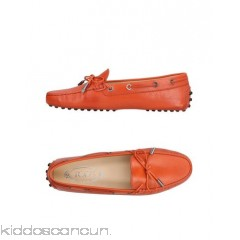 TOD'S Loafers - lacing logo solid colour round toeline flat leather lining - Womens Loafers 11412775IM
