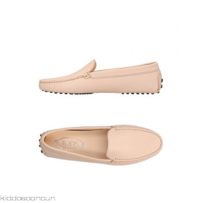 TOD'S Loafers - logo solid colour round toeline flat leather lining rubber nubbed sole - Womens Loafers 11412708VR