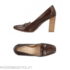 TOD'S Loafers - logo solid colour square toeline geometric heel leather lining rubber nubbed sole - Womens Loafers 11435742CI